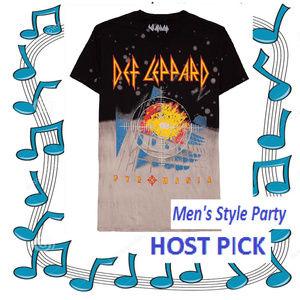 Def Leppard Pyromania Bleach T-Shirt L XL NWT